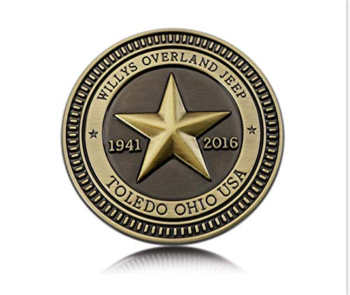 (3D Metal Car Emblem Badge automobile decoration In front of the back WILLYS OVERLAND JEEP 1940 2016)