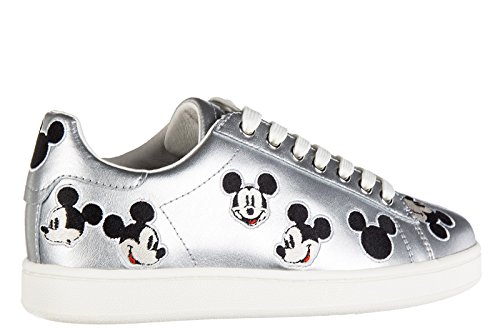Moa Master of Arts chaussures baskets sneakers femme en cuir argent