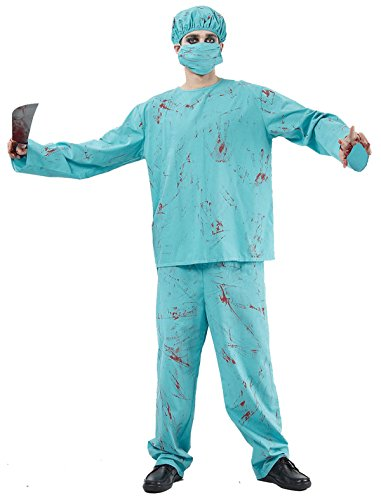 Bristol Novelty Mens Fancy Dress Halloween Party Horror Scary Blood Splattered Surgeon Outfit]()