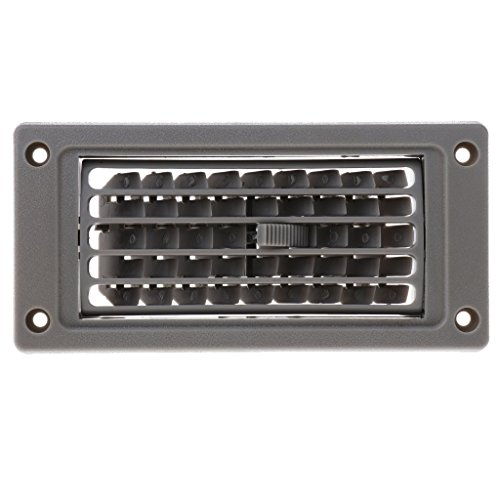 Culturemart Car Marine RV Boat AC Air Conditioner Linear Vent Grille Cover Ducted Gray Beige Louvers Open Close & Rotate