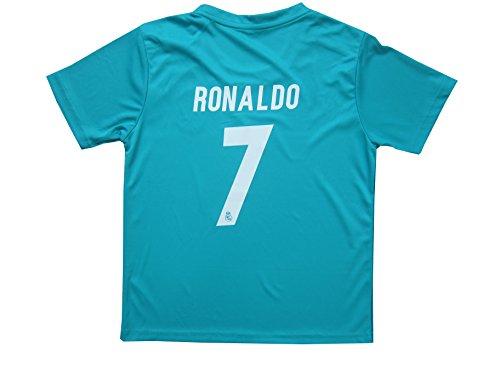 GamesDur 2017 2018 Real Madrid RONALDO  7 Third Soccer Kids Jersey   Short   2658f4142