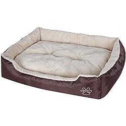 Songmics Cómodo Casa para mascotas, Cama para perros Perrera Gato Del Perro De Perrito Sofa House Bed 75 x 58 x 17 cm PGW03Z