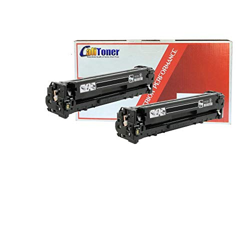 Calitoner Compatible Laser Toner Cartridges Replacement for HP 131A- (Black 2-Pack)