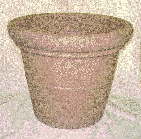 Akro-Mils TEA20000A34 Terrazzo Round Planter with Heavy Rim, Sandstone, - Terrazzo Heavy Planter