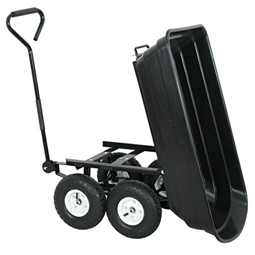 F2C-Poly-Garden-Dump-Cart-Heavy-Duty-Dumper-75L-650lb-Capacity-with-Steel-Frame-Pneumatic-Air-Tires