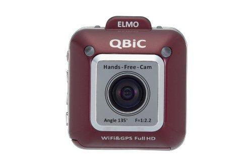 ELMO(エルモ) QBiC(キュービック)Full HDフィールドムービー X1 [F2.2 水平画角135度] ワインレッド 2490-2 B00ADDH3H2