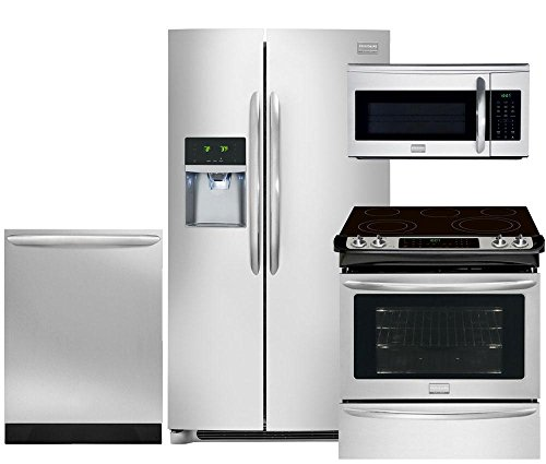 Frigidaire Slide In Range (Frigidaire Smudge-Proof Stainless Steel Set, FGHC2331PF 36
