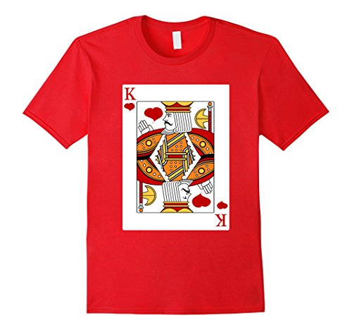 Homemade Halloween Costumes For A Couple - Mens Deck Of Cards Halloween King of Hearts Couples Costume Shirt XL Red