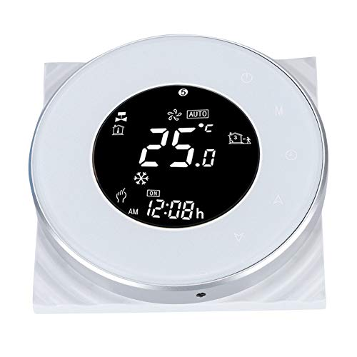 Bewinner Floor Heat Thermostat, LCD Touch Screen Room Thermostat with WiFi Remote Control,2.5m External Sensor,Simple Appearance Design Smart Thermostat