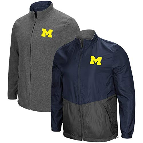(Colosseum Michigan Wolverines Halfback Reversible Polar Fleece/Rain Jacket (XL))