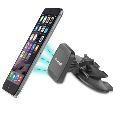 Amazon Lightning Deal 88% claimed: Car Mount, Nekteck CD Slot Magnetic Cradle-less Car Phone Mount Holder with Swivel for iPhone 7 6 6S Plus 5S 5C 5,SE, Samsung Galaxy S6/S7 Edge Plus S5 Note 7 5 4, LG G5, Nexus 6P 5X More, Black