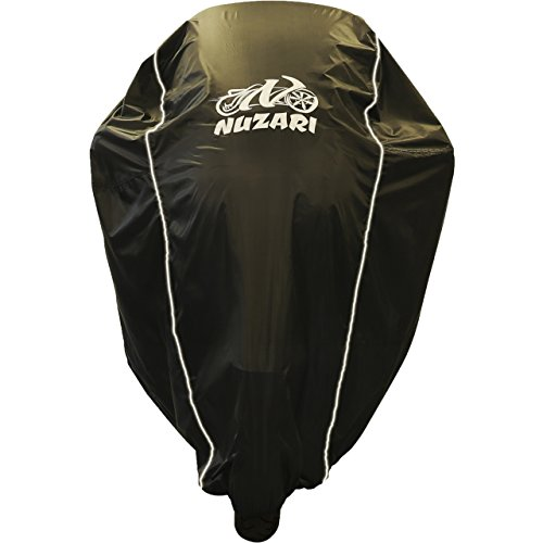 Premium Grade Weather Resistant Motorcycle Covers. Waterproof High Grade Polyester w/Soft Screen & Heat Resistant Shield Lockable fabric, Durable & Long Lasting. Sportbikes & Cruisers (medium black)