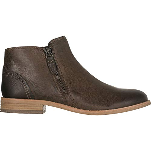Ankle Leather Bootie (CLARKS Women's Maypearl Juno Ankle Bootie, Brown Leather, 8.5 M US)