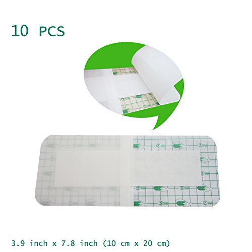 (Careshine Waterproof Transparent Adhesive Wound Dressing 10pcs Medical dressings Posted Disposable sterile bedsores Wound Waterproof Bath Posts, Anti-Allergic self-Paste)