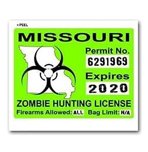 Missouri Mo Zombie Hunting License Permit