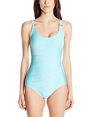 Calvin Klein Scoop-Neck One Piece Swimsuit