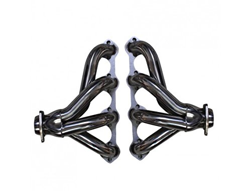 speedracingturbo FOR FORD 351W/5.8 SMALL BLOCK HUGGER TIGHT FIT EXHAUST MANIFOLD HEADER ECONOLINE QITONG AUTO PARTS