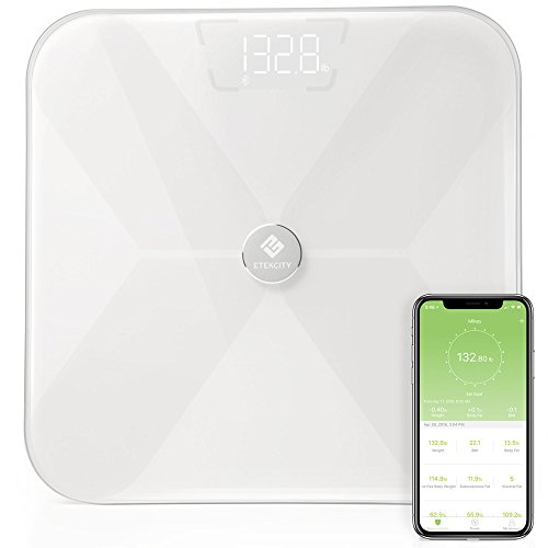 Etekcity Bluetooth Body Fat Scale –FDA Approved-Wireless Digital Bathroom Weight Smart Scale, Body Composition Analyzer with IOS and Android APP for Body Fat, Water, Muscle Mass, BMI, BMR, Bone Mass