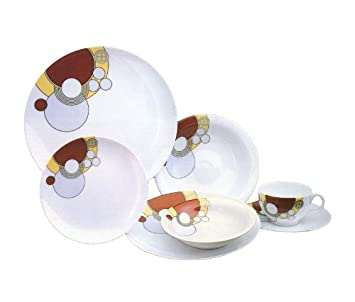 Frank Lloyd Wright Art Deco Porcelain Dishes 7-Piece Place Setting Imperial Hotel Design  sc 1 st  Amazon.com & Amazon.com | Frank Lloyd Wright Art Deco Porcelain Dishes 7-Piece ...