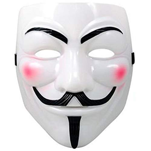 Anonymous Mask Sale (White V for Vendetta Guy Fawkes Anonymous Costume Halloween Cosplay)