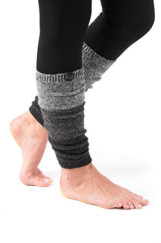 Marino Long Leg Warmers For Women - Winter Knee High Knit Leg Warmer Socks, Enclosed in an Elegant Gift Box (Multi Grey)