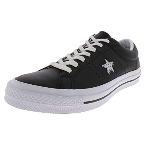 Converse Mens One Star Ox Leather Low Top Skate Shoes B/W 8.5 Medium (D)