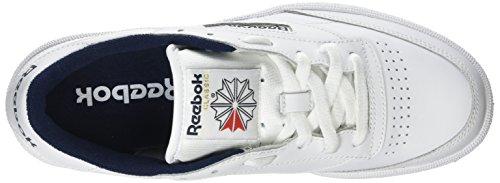 Reebok C85 Club Navy Intense Basses White Baskets Homme Blanc PzfPq