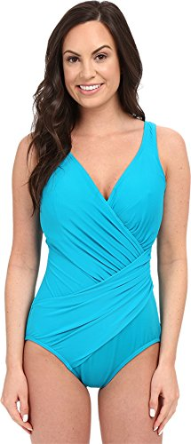 Miraclesuit Women's Solid Oceanus One-Piece (DD Cup) Lagoon Swimsuit 12