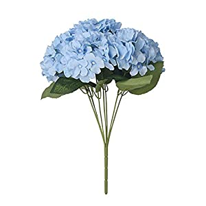 7 Heads/Bunch Artificial Flower Hydrangea Silk Flower Real Touch Fake Flower for Home Wedding Decoration Floral P20,5 39