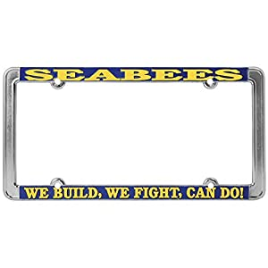 Honor Country Seabees We Build, We Fight License Plate Frame, Thin Rim by Mitchell Proffitt