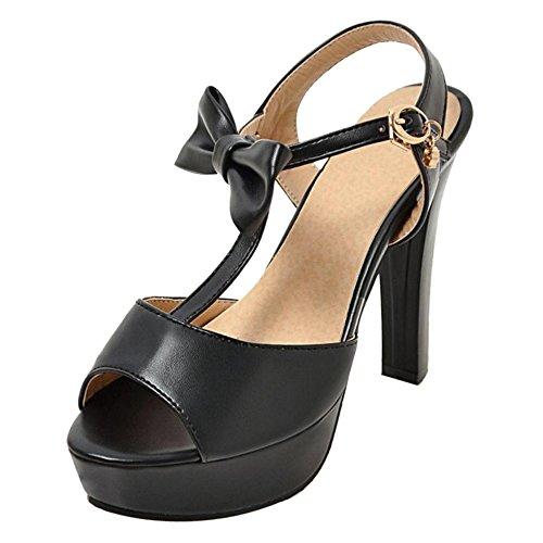Peep 2 RAZAMAZA Black Toe Sandali Piattaforma Donna pwRvAq5