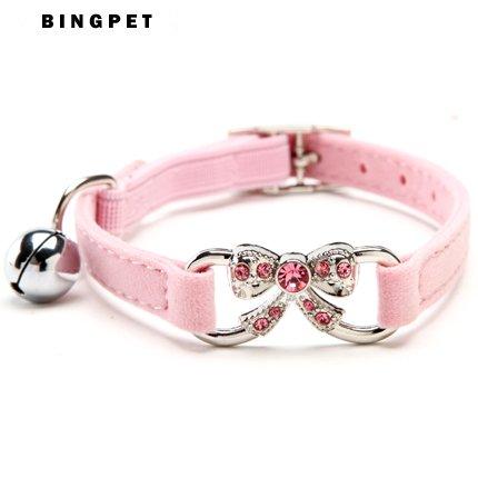 adeby (TM) Bling Halsband Butterfly Zubehör mit Sicherheitsgurt für Pet Katzen klein Puppy Dogs