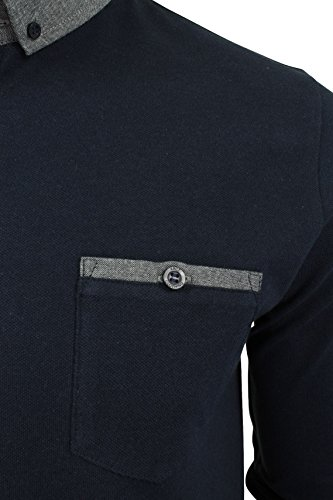 Homme Manches Longues Polo Marine Xact waFRzqF