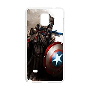 Medieval Captain America Fantasy5 Samsung Galaxy Note 4 Cell Phone Case White JT3858K11996
