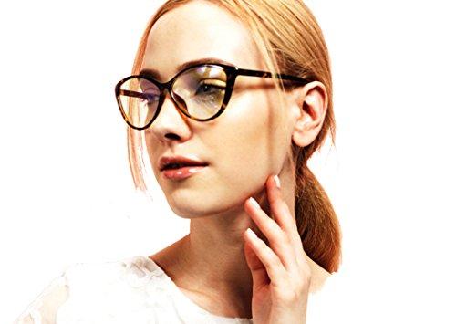 Agstum Ladies Womens Cat eye TR90 Glasses Frames Optical Eyeglasses 59mm (Yellow leopard, - Eyeglasses Frame Yellow
