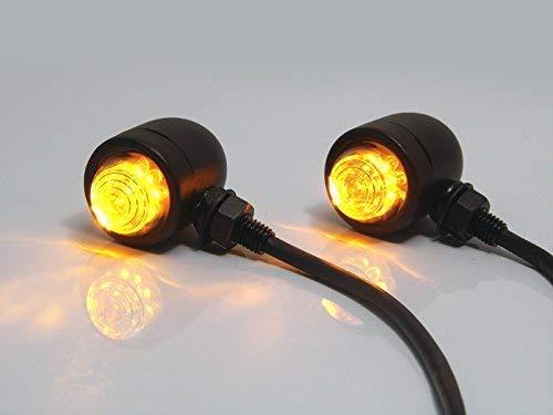 Nero Opaco Custom Alu LED Indicatori Moto Motocicletta//Frecce
