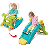 IDEALT Multifunctional Rocking Chair Slide Combination 2 in 1 Toy Colorful Ride-on Rocker Baby Rocking Horse Plastic…