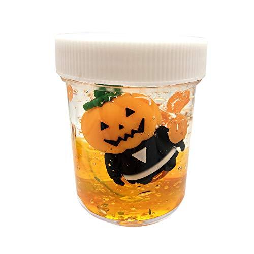 callm Halloween Luminous Slime Pumpkin Ghost Mud Stress Relief Kids Clay Toy 120ML