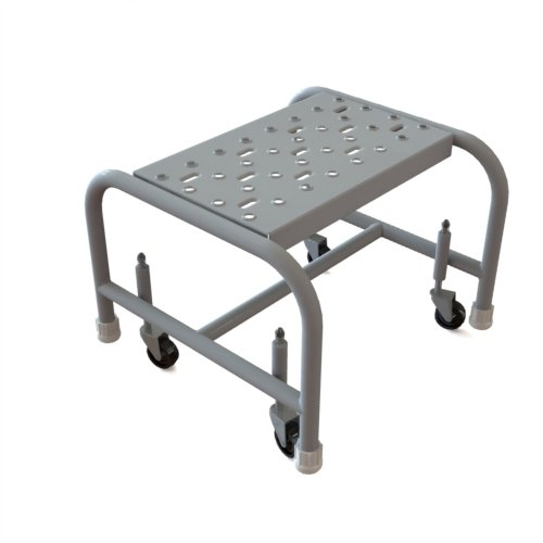 Tri-Arc WLSR001162 1-Step Mobile Steel Step Stool with Grip Strut Top Step, 16-Inch Wide