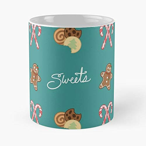 Christmas Holidays Pattern Gingerbread - Handmade Funny 11oz Mug Best Holidays Gifts For Men Women Friends.
