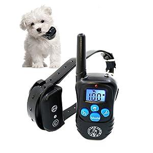 Puss and Pooch Dog Training Collar - Dog Remote Training Collar 300 Meter Range Static Shock Collar w/Humane Vibration & Beep Option 15