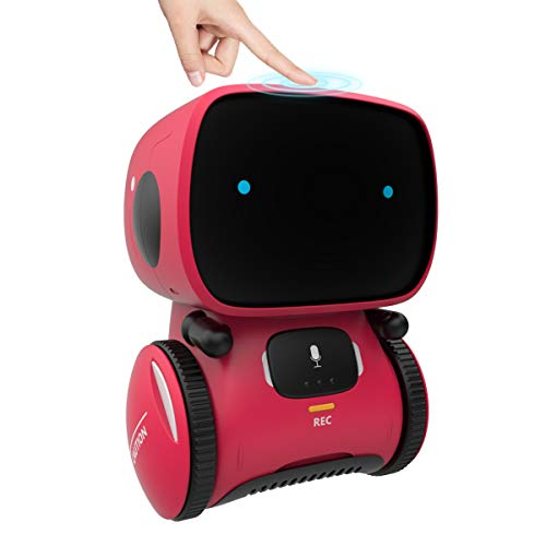 98K Kids Robot Toy, Smart Talking Robots, Gift for Boys and Girls Age 3+, Intelligent Partner and Teacher, with Voice Controlled and Touch Sensor, Singing, Dancing, Repeating -