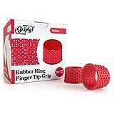 Griply Rubber Finger Tips | Hand Grips | Rubber Tip Finger Protector | Finger Pads (Medium)