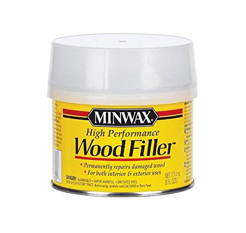 Miniwax 41600000 High-Performance Wood Filler, 6-Ounce