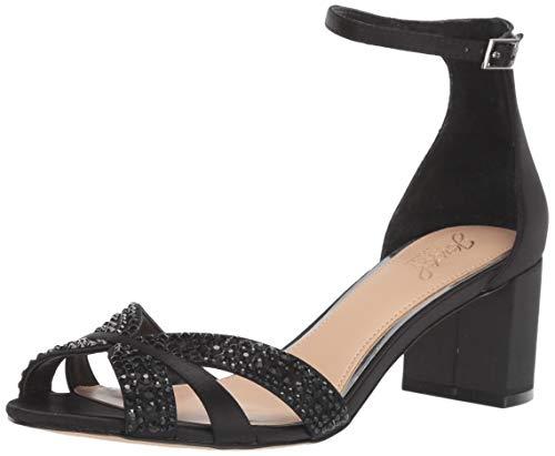 Jewel Badgley Mischka Women's Sequoia Heeled Sandal Black 7.5 M US from Jewel Badgley Mischka