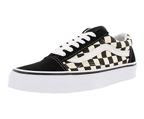 Vans Unisex Old Skool (Primary Check) Blackwhite Vn0a38g1p0s Mens 8.5, Womens 10