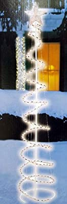 5' Multi-Color LED Lighted Outdoor Spiral Christmas Tree Yard Art Decoration