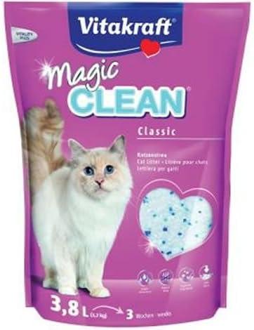 Vitakraft Magic Clean Classic, Perlas de arena para gatos, 3.8 L ...