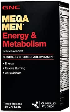 GNC Mega Men Energy Metabolism - 180 Caplets