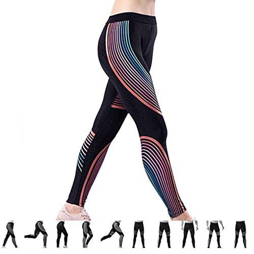 Masterein Mujeres Pantalones Respirables Pantalones Impermeables Deportes Elásticos Running Fitness Pantalones Rápidos Secos